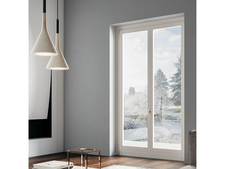 Finestre porte finestre in alluminio taglio termico dwn serramenti - Porta finestra legno ...